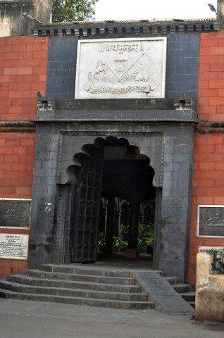 नव-निर्मित श्री मल्हारी मार्तण्ड मंदिर का प्रवेश द्वार !