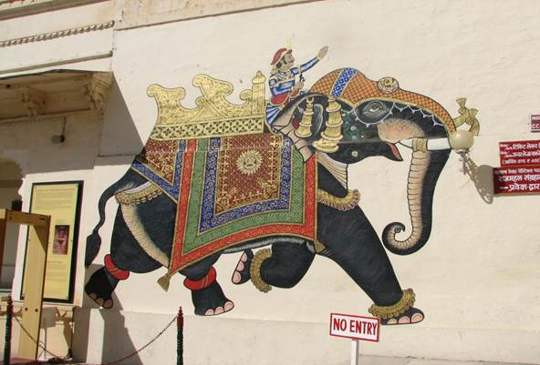 Wall painting at City Palace