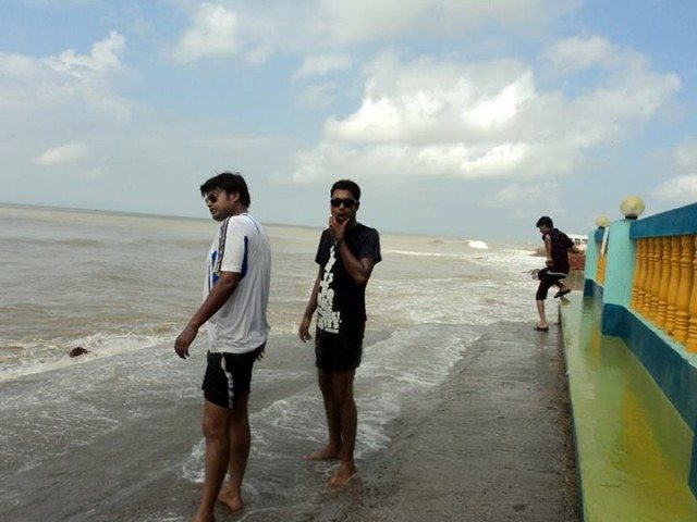 at mandarmani beach, hotel priyajeet's beach-side ramp