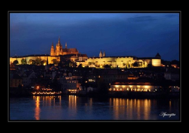 A view across the river Vltava