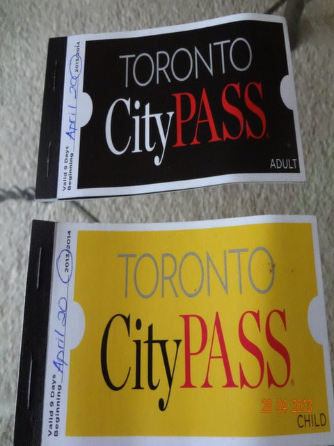 Toronto City Pass Booklet