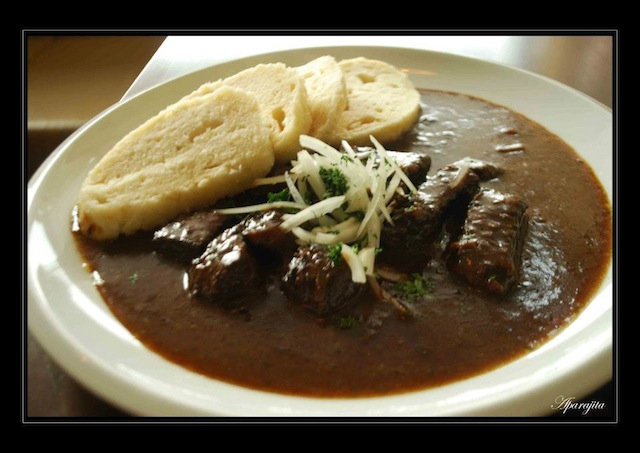 Goulash with dumpling—the most popular Czech delight!