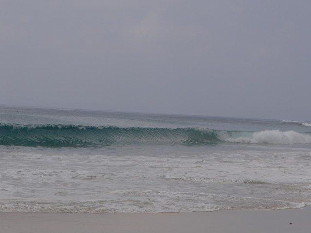 The huge waves