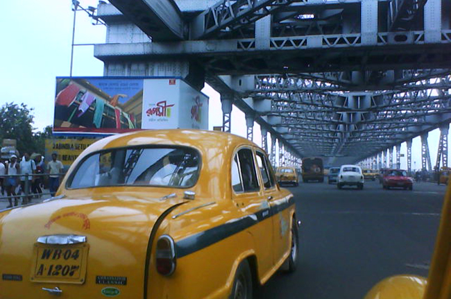 Traffic at Howrah Bridge
