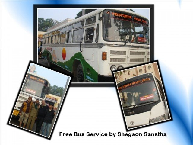 Free Bus Services at Shegaon