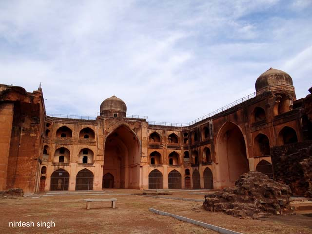 Khwaja Mahmud Gawan Madrasa - View from the Shattered South East Corner