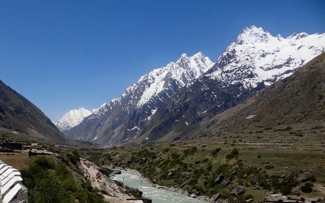 Looking back towards Badrinath from Vyas Gufa