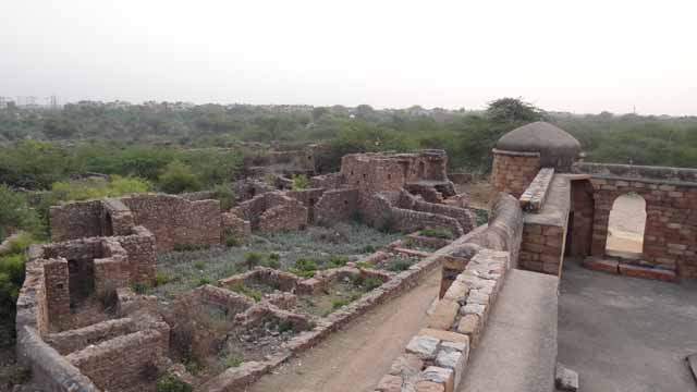 Ruins around Sultan Ghari Tomb