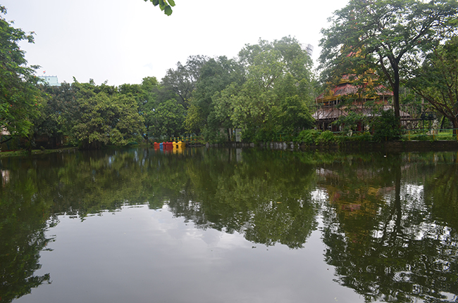 The Pagoda and the water body