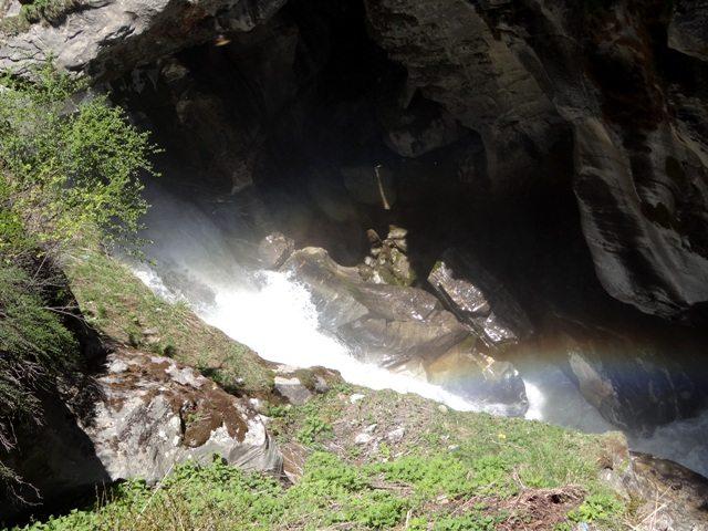 The rainbow at the Bhim Pul