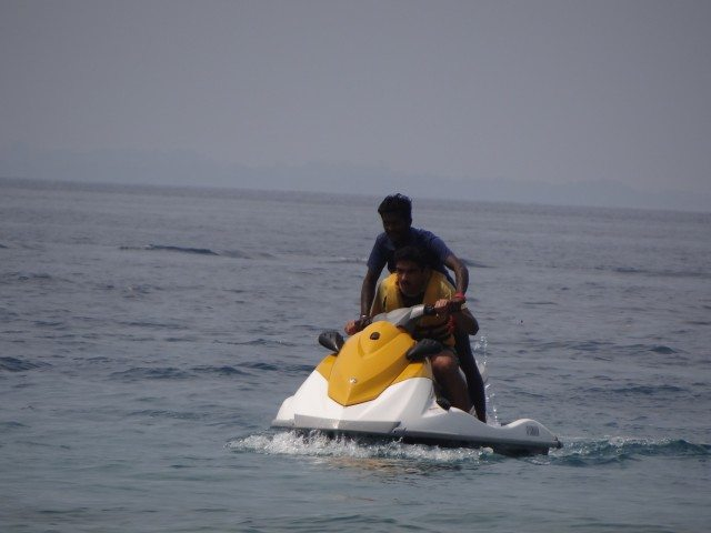 Trying our hand at jetskiing