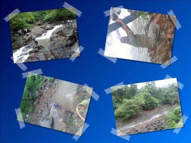 People Enjoying in Waterfall