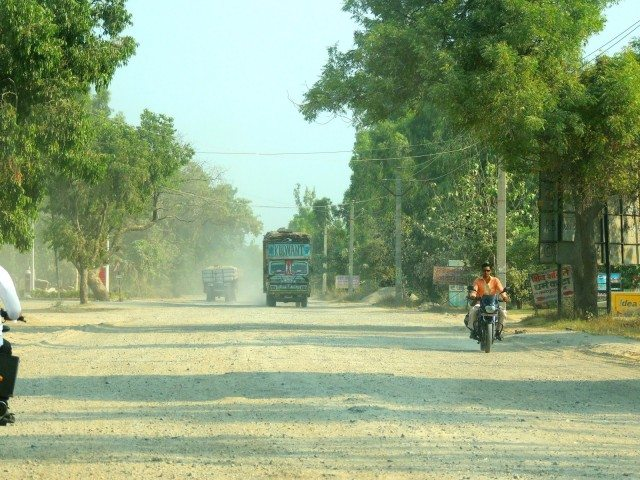 Broken road at Deoband