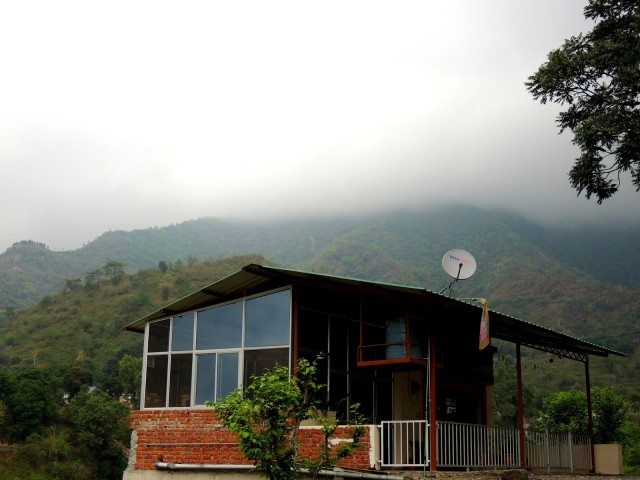 One beautiful house in Dehradun with weather changing in the background