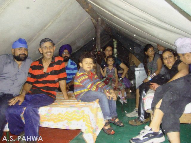 Taking shelter in the tent - childhood memories