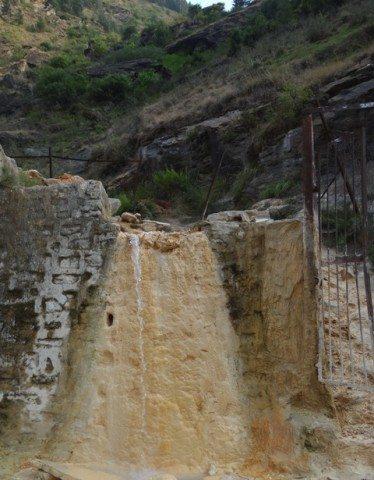 Hot spring at Tapovan