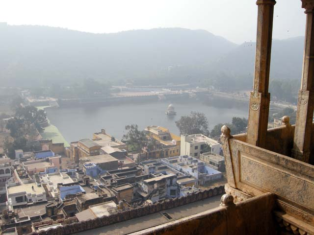 View of Bundi from a balcony