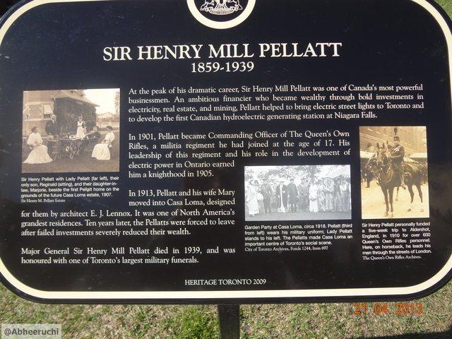 Sir Henry Mill Pellatt details