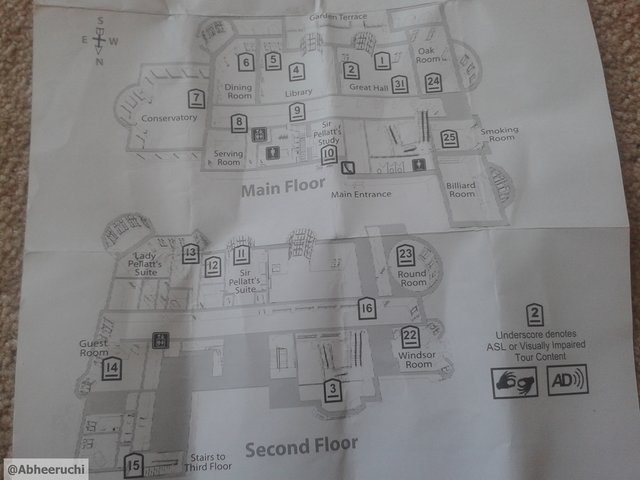 Castle First and Second floor map