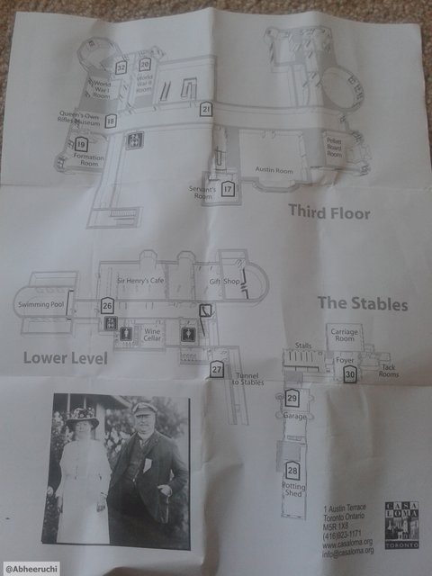 Third and Lower Floors map