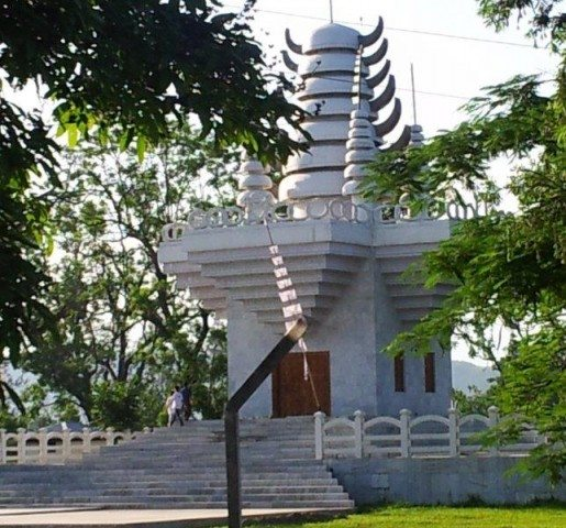 Newly constructed temple