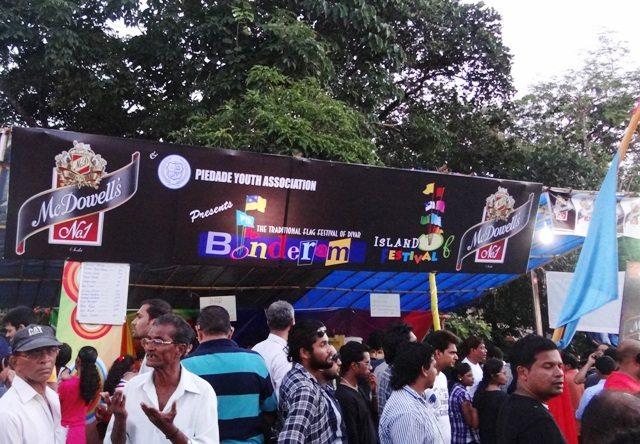 A festival banner