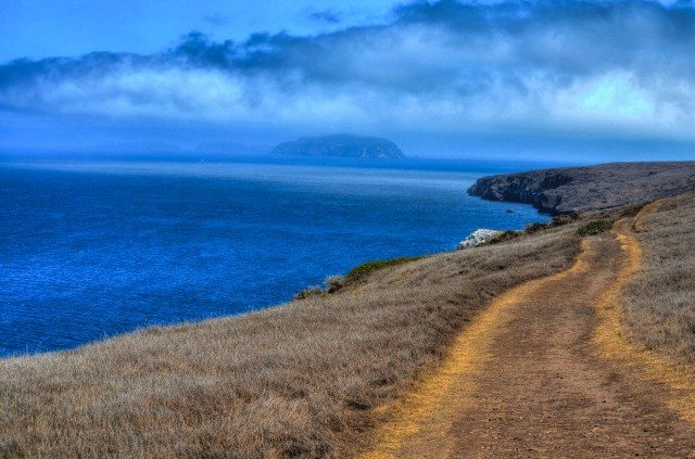 The hike, and view of the Anacapa island at a distance.