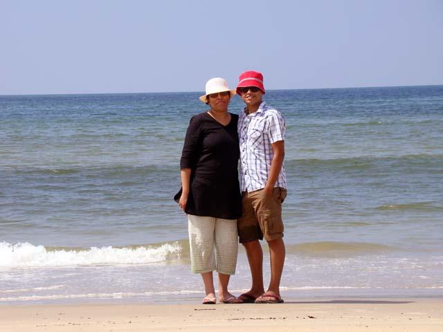 Me and husband in Goa