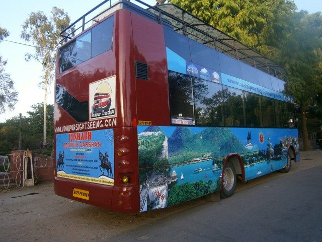Udaipur city tour bus