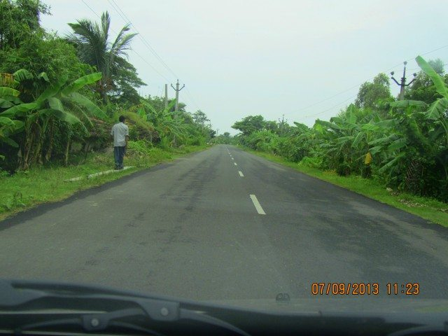 Way to Bakkhali from Namkhana