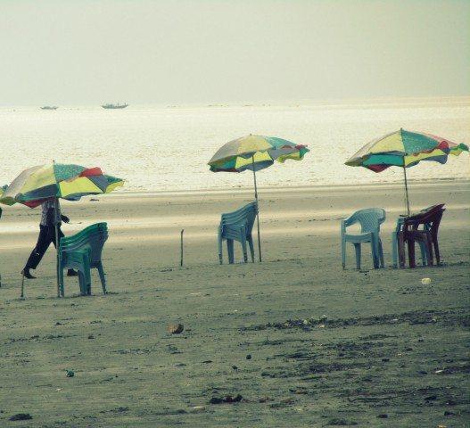 Seats on Bakkhali Beach