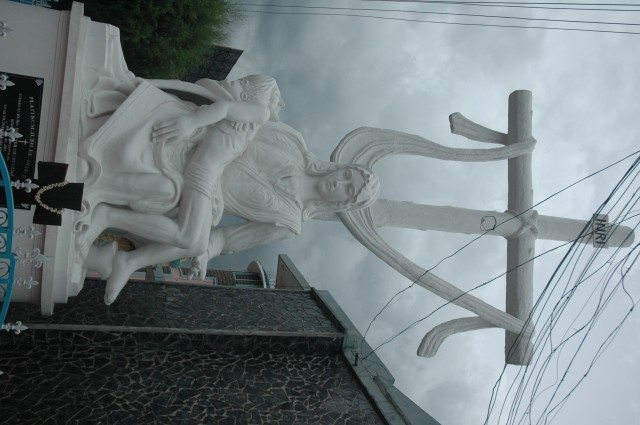 Statue in front of a church