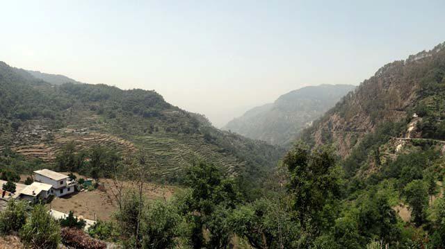 View from Saari turnoff