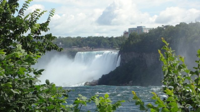 Closer view of Niagara Falls