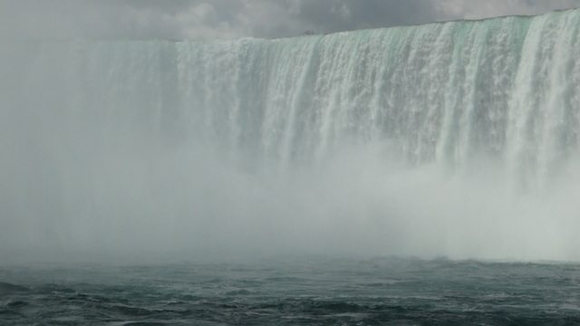 Closer view of Canadian waterfalls