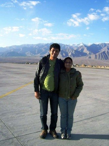 Just arrived  Leh airport