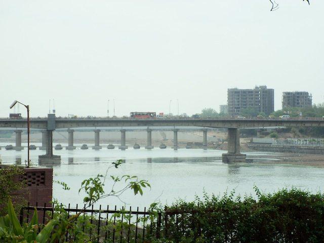 Sabarmati river as seen from the Ashram