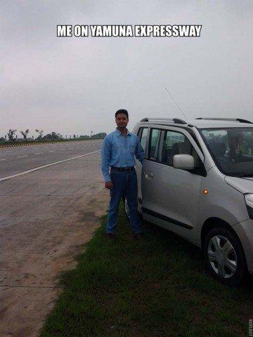 At Yamuna Expressway