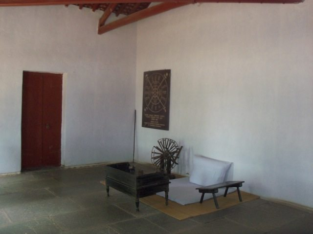 The serene atmosphere in the courtyard