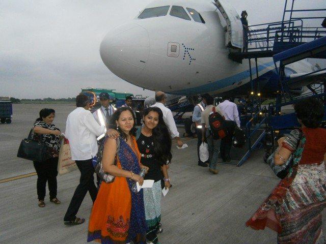Indigo plane ready to take us to Nagpur