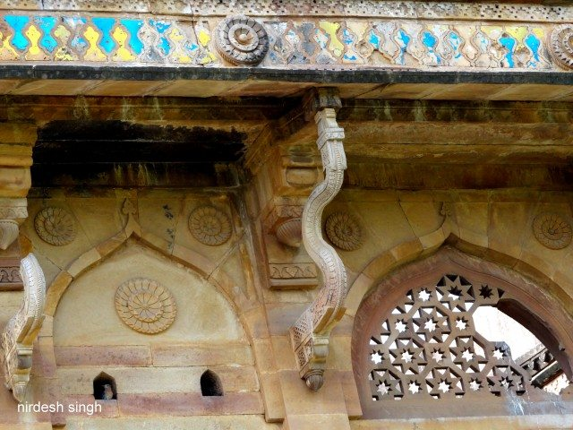 Chanderi Architectural Elements - Jaali, Ogee Arches and Serpentine Struts