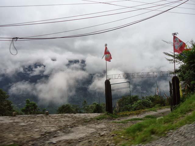 बादलो से ढका हनुमान टोक  मंदिर