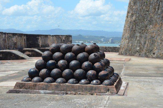 Cannonballs at Castillo San Felipe del Morro
