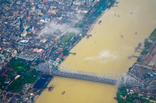 Flying over Calcutta