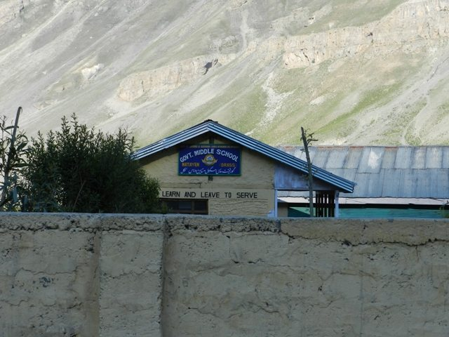 School run by BSF at Drass