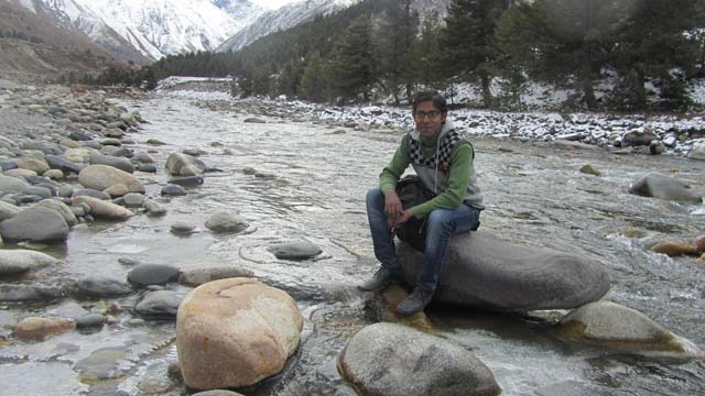 Baspa River which merge with Jhelum in Sangla