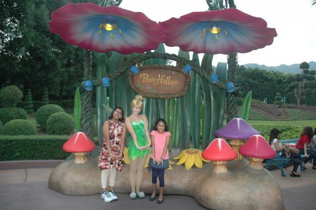 Girls with Tinkerbell