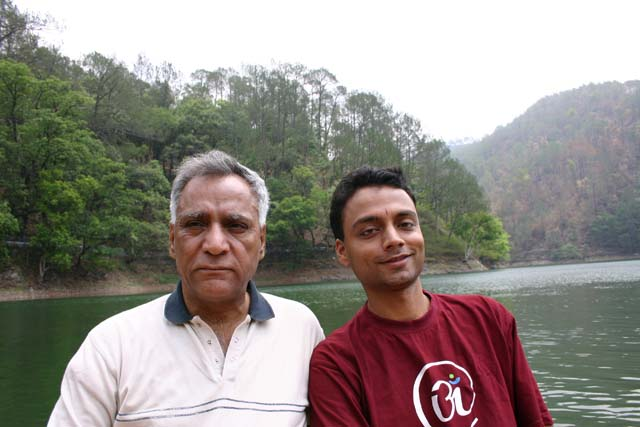 Ram and Nandan on Saat Taal Lake