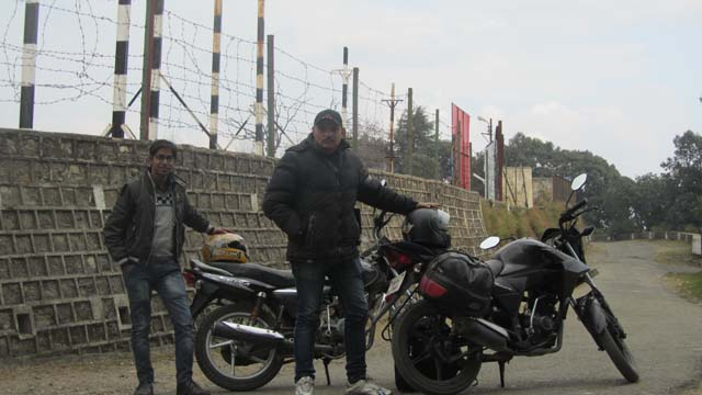 Standing in front of the World highest Cricket Ground in Chail