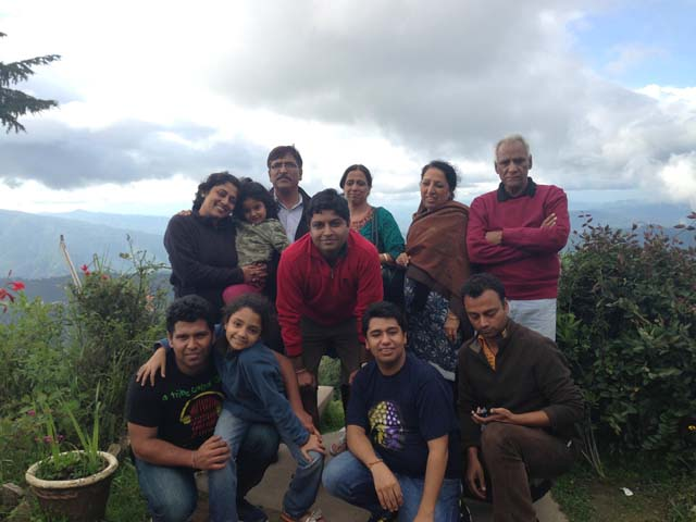 With family at Mukteshwar